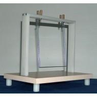 Uređaj za demonstraciju uzajamnog delovanja dva paralelna strujna provodnika