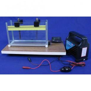 Uređaj za proučavanje provodljivosti elektrolita sa izvorom i mernim instrumentima