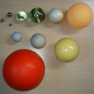 Kuglice razne po prečniku, elastičnosti i vrsti materijala (komplet)