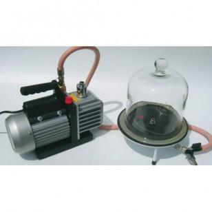 Rotaciona vakuum pumpa sa staklenim zvonom na postolju