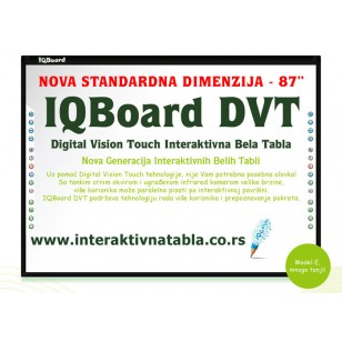 Interaktivna tabla IQBoard DVT - 87""